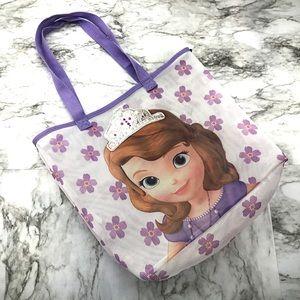 Disney Frozen Princess Anna Purple Mesh Tote Bag